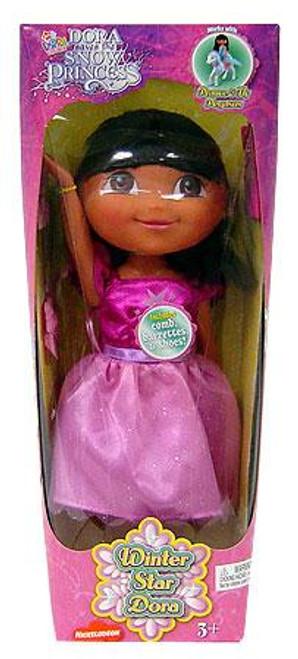 Fisher Price Dora the Explorer Dorate Saves the Snow Princess Winter Star Dora 12-Inch Doll