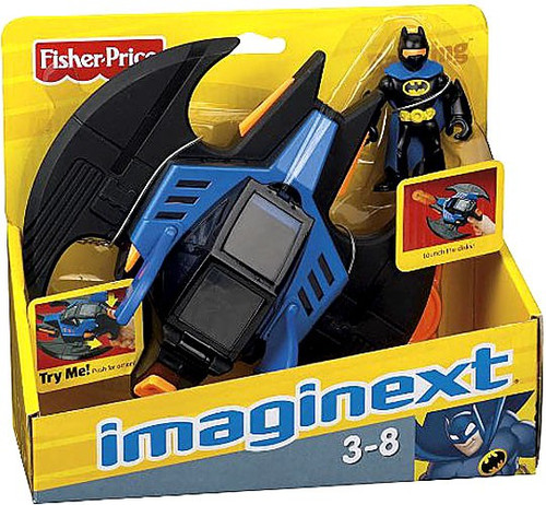 Fisher Price DC Super Friends Batman Imaginext Batwing 3-Inch Figure Set
