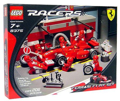 LEGO Racers Ferrari F1 Pit Set #8375