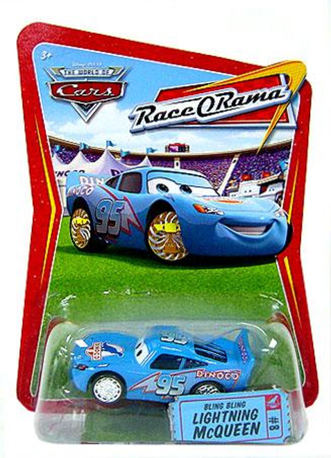 Disney Cars The World of Cars Race-O-Rama Bling Bling Lightning McQueen Diecast Car #8