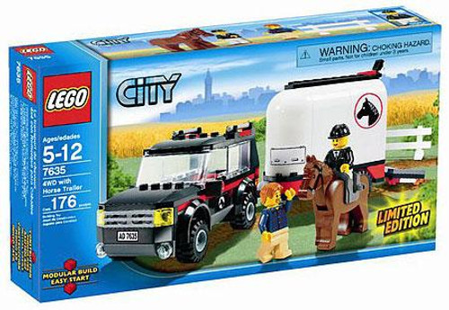 LEGO City 4WD With Horse Trailer Exclusive Set #7635