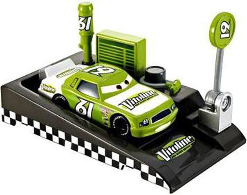 Disney Cars Pit Row Race-Off Vitoline No. 61 Diecast Car [Includes Launcher]
