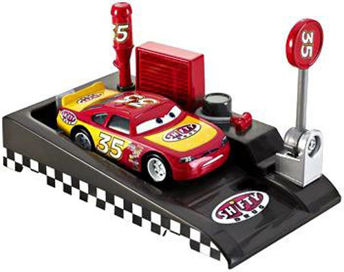 Disney Cars Pit Row Race-Off Shifty Drug No. 35 Diecast Car [Includes Launcher]