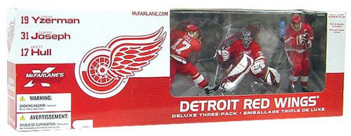 McFarlane Toys NHL Sports Picks Exclusive 3-Pack Detroit Red Wings Exclusive Action Figure 3-Pack [Red Jersey Variants]