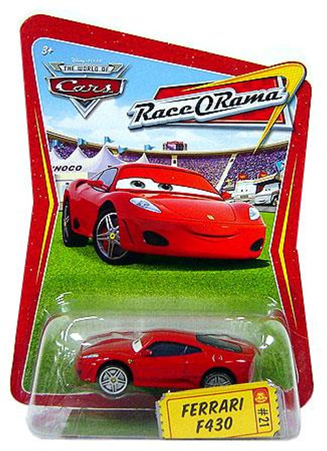 Disney Cars The World of Cars Race-O-Rama Ferrari F430 Diecast Car #21