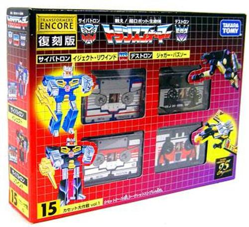 Transformers Japanese Renewal Encore Cassettes Action Figure Set #15 [#15]