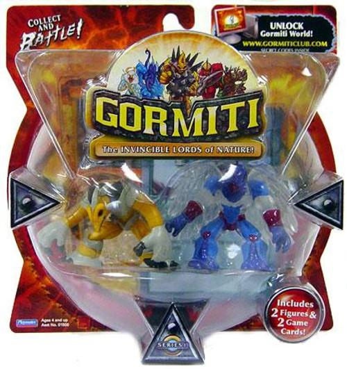 Gormiti Series 1 Mole the Holedigger & Solitary Eagle Mini Figure 2-Pack [Random Colors]