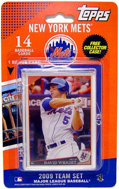 MLB 2009 Topps Baseball Cards New York Mets Team Set