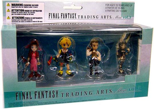 Final Fantasy X Trading Arts Vol. 3 Aerith Gainsborough, Tidus, Bathier & Fran Mini Figure 4-Pack