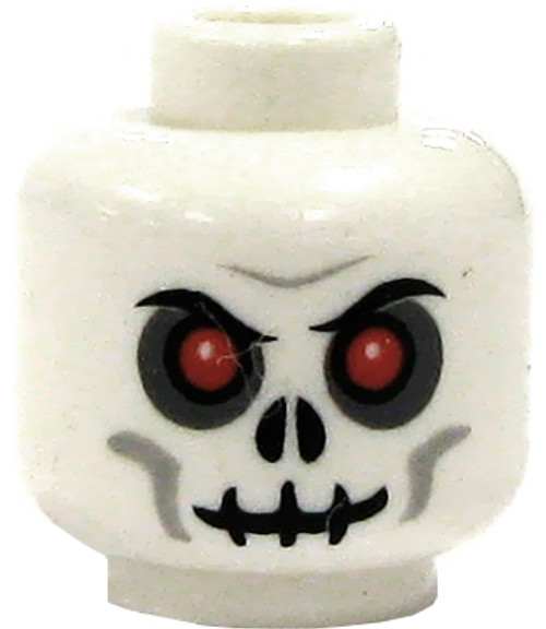 LEGO Minifigure Parts White Skull with Red Eyes Minifigure Head [Loose]