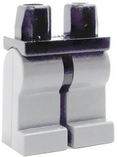 LEGO Castle Minifigure Parts Black with Light Gray Legs Loose Legs #4492335 [Loose]