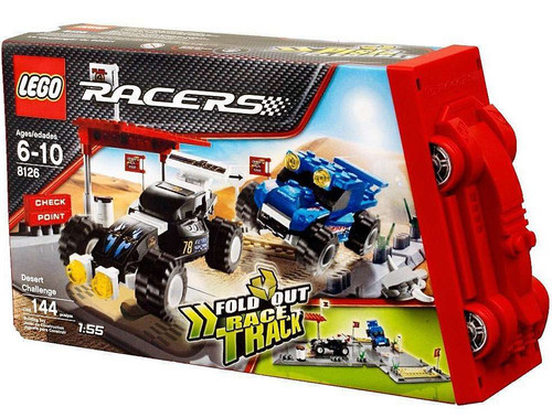 LEGO Racers Fold Out Race Tracks Desert Challenge Set #8126
