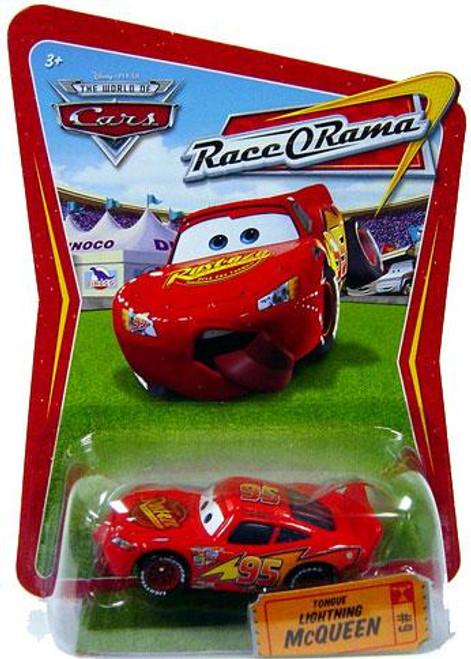 Disney Cars The World of Cars Race-O-Rama Tongue Lightning McQueen Diecast Car #9