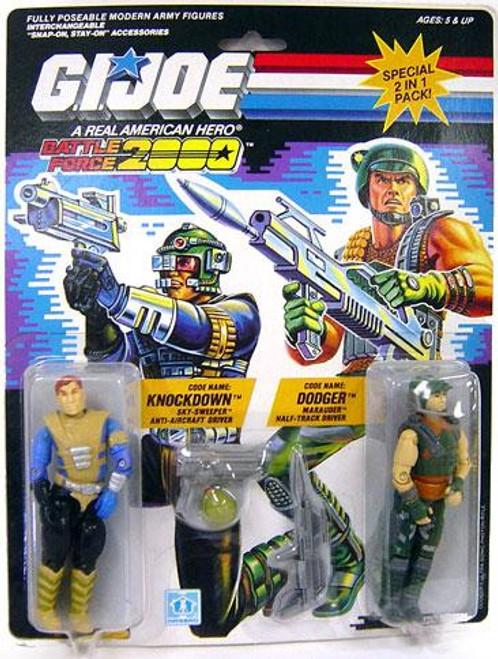 GI Joe Battle Force 2000 Knockdown & Dodger Action Figure 2-Pack