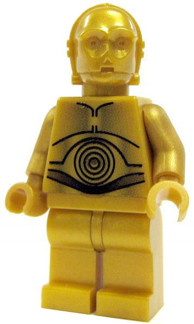 LEGO Star Wars A New Hope Loose C-3PO Minifigure [Dark Gold Pearl Loose]
