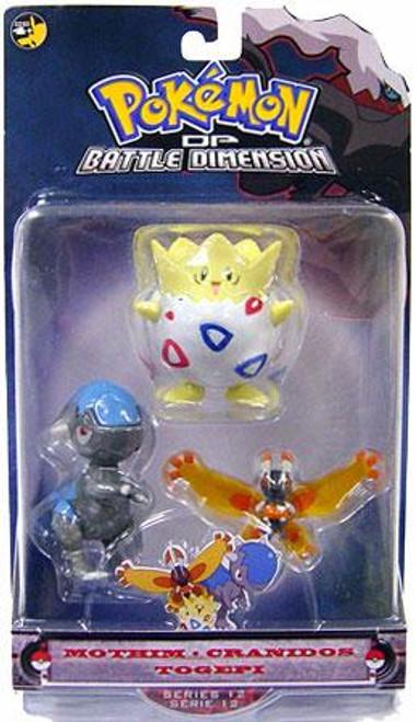 Pokemon Diamond & Pearl Series 12 Mothim, Cranidos & Togepi Figure 3-Pack
