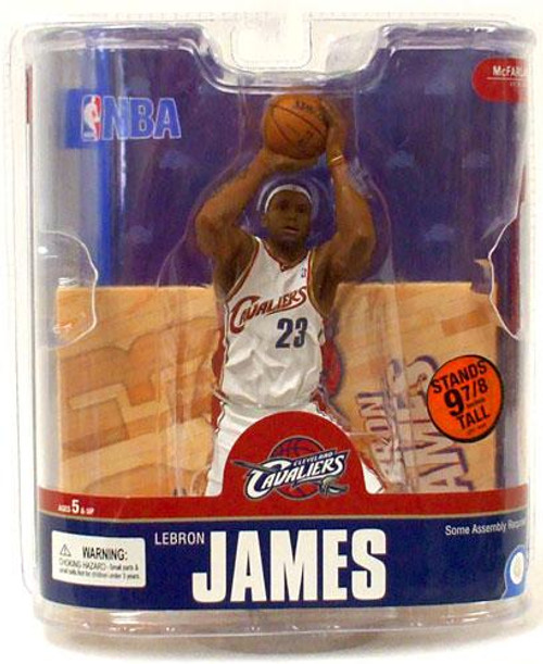 McFarlane Toys NBA Cleveland Cavaliers Sports Picks Series 13 LeBron James 4 Action Figure [White Jersey Variant]