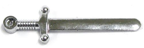 LEGO Castle Minifigure Parts Chrome Silver Sword Loose Weapon [Loose]