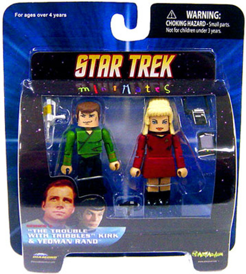 """Star Trek The Original Series MiniMates Series 5 """"The Trouble with Tribbles"""" Kirk & Yeoman Rand Minifigure 2-Pack"""
