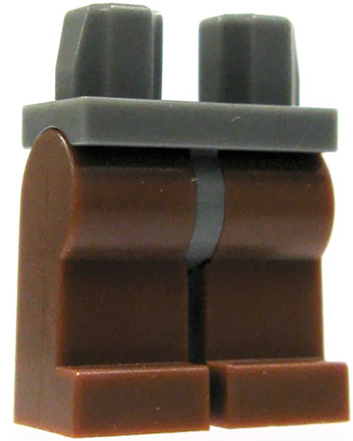 LEGO Castle Minifigure Parts Dark Gray Hips with Brown Legs Loose Legs #4168950 [Loose]