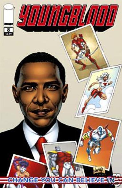 Image Comics Youngblood Comic Book #8 [Barack Obama Cover, 1st Printing]
