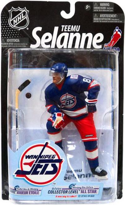 McFarlane Toys NHL Winnipeg Jets Sports Picks Series 23 Teemu Selanne Action Figure [Blue Jersey] [Moderate shelf wear, slight creasing on the card.]