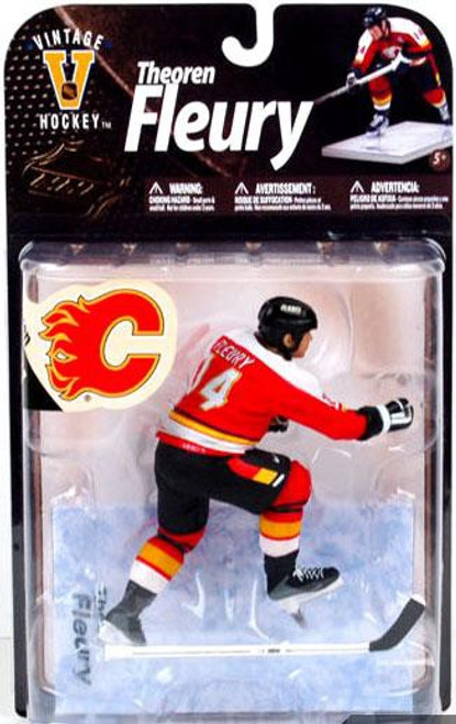 McFarlane Toys NHL Calgary Flames Sports Picks Legends Series 8 Theo Fleury Action Figure [Red Jersey]