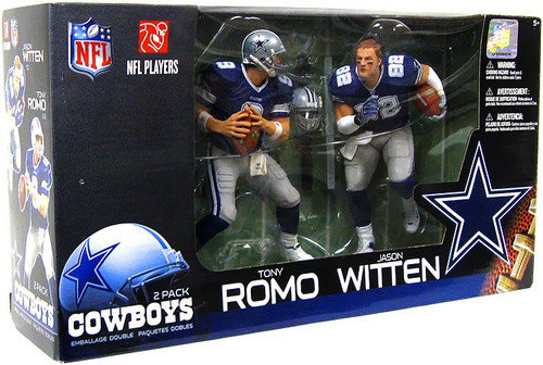 McFarlane Toys NFL Dallas Cowboys Sports Picks 2-Packs Jason Witten & Tony Romo Action Figure 2-Pack