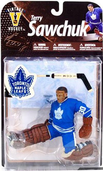 McFarlane Toys NHL Toronto Maple Leafs Sports Picks Legends Series 8 Terry Sawchuk Action Figure [Blue Jersey]