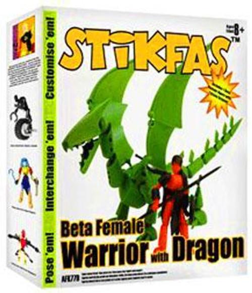 Stikfas Redeco Beta Female Rider Action Figure Kit [Green Dragon]