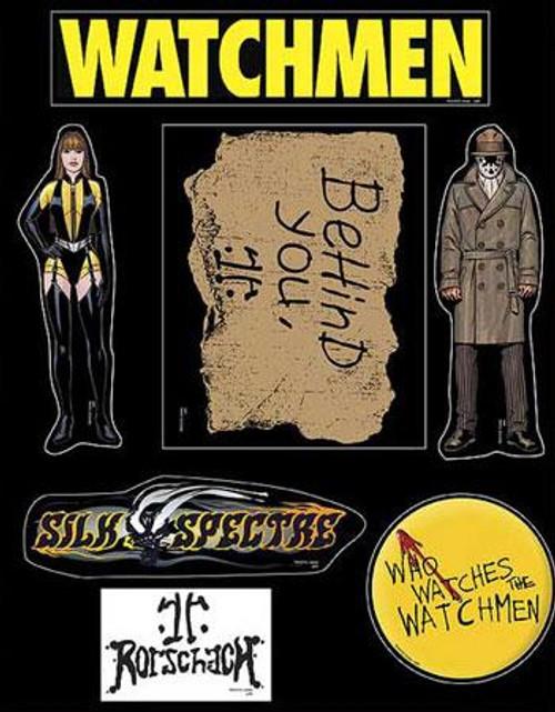 NECA Watchmen Rorschach & Silk Spectre Magnets