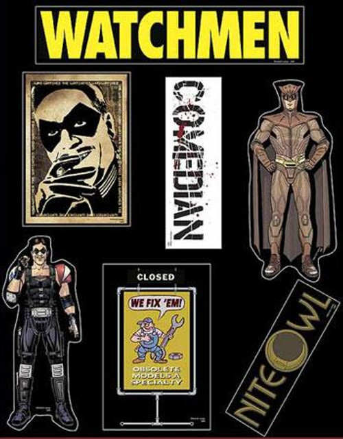 NECA Watchmen Night Owl & Comedian Magnets