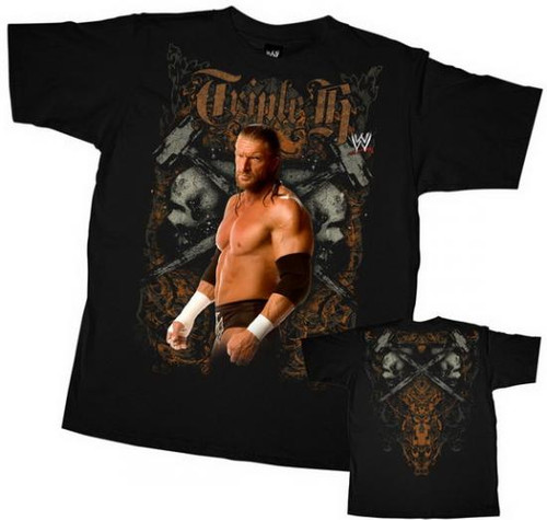 "WWE Wrestling Triple H ""Hammer"" T-Shirt WWY322 [Youth Small]"