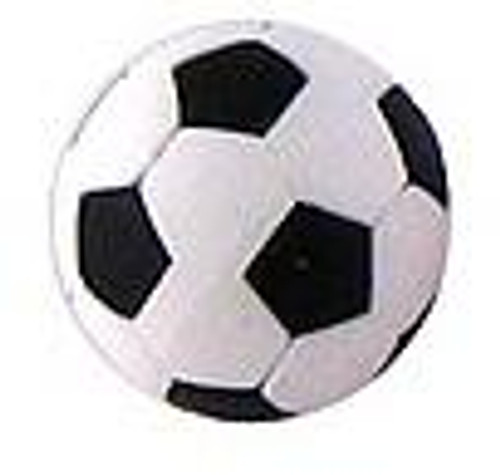 Iwako Black Soccer Ball Eraser