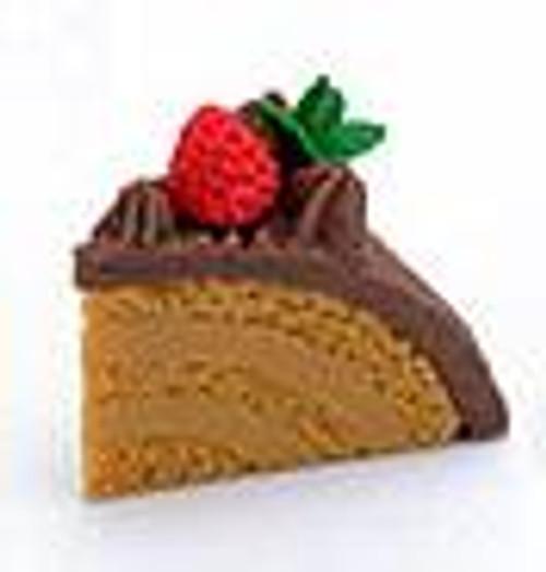 Iwako Domed Tan Cake with Chocolate Icing Eraser