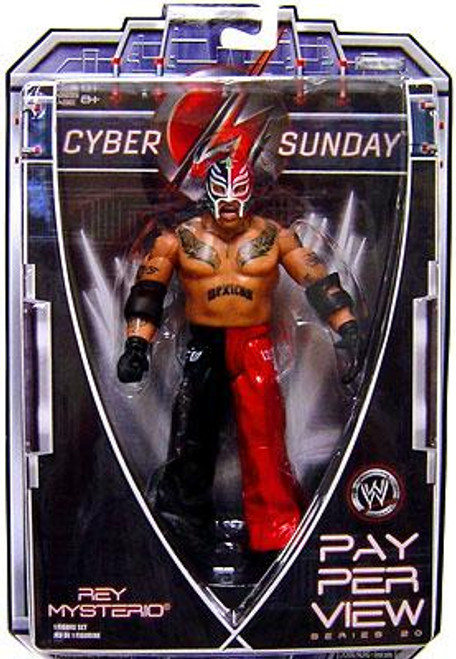 WWE Wrestling Pay Per View Series 20 Cyber Sunday Rey Mysterio Action Figure