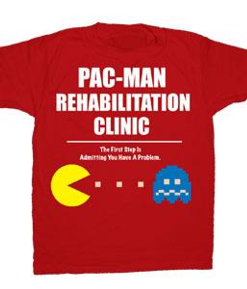 Pac Man Pac-Man Rehabilitation Clinic T-Shirt [Adult Small]