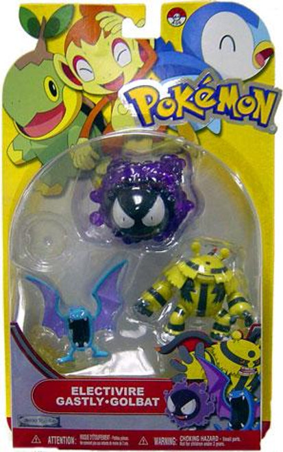 Pokemon Diamond & Pearl Series 13 Electivire, Gastly & Golbat Figure 3-Pack