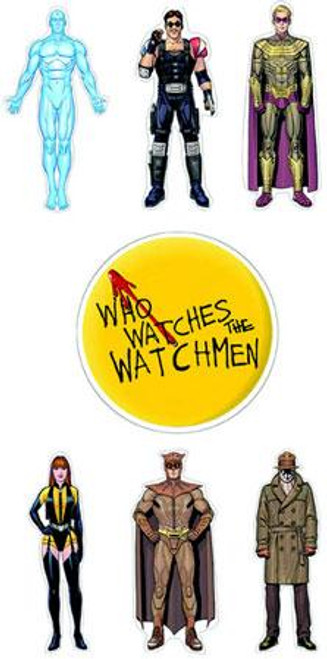 NECA Watchmen Character Set of 7 Stickers