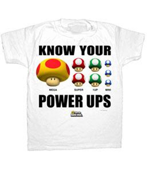 Nintendo Know Your Power-Ups T-Shirt [Adult S]