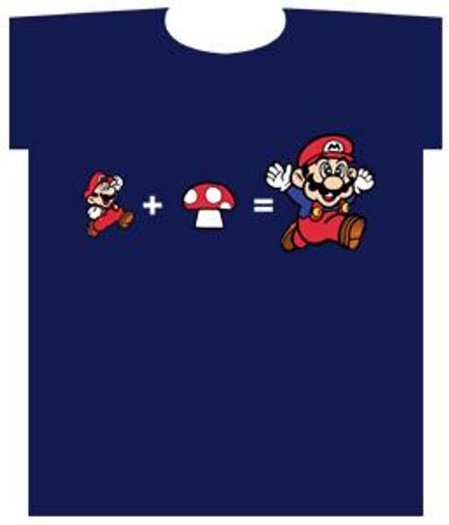 Super Mario Chasing Mushroom T-Shirt [Adult XL]