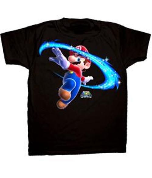 Super Mario Glitter T-Shirt [Adult Medium]