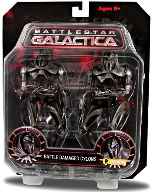 Battlestar Galactica Series 3 Razor Battle Damaged Cylons Exclusive Action Figure 2-Pack