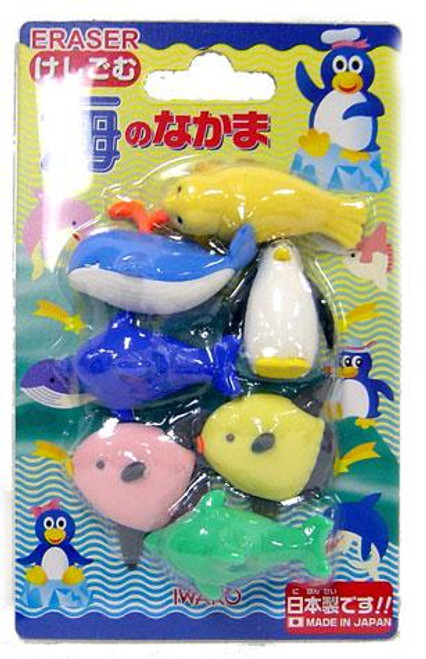 Iwako Sea World Eraser Set