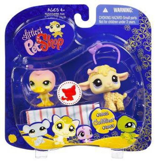 Littlest Pet Shop 2009 Assortment B Series 4 Duck & Lamb Figure 2-Pack #1002, 1003