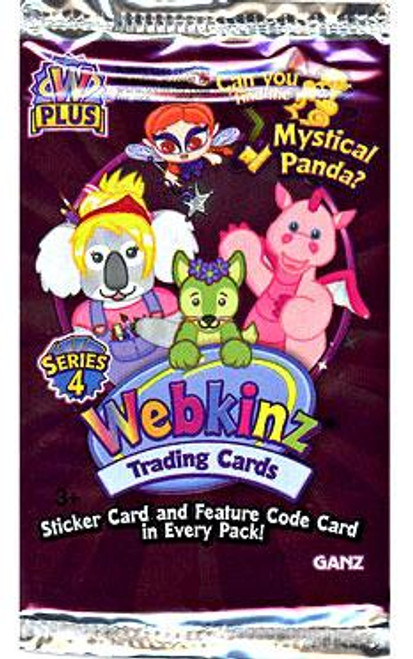 Webkinz Trading Cards Series 4 Booster Pack