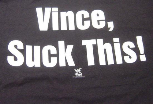 WWE Wrestling Vince, Suck This! T-Shirt WWM016 [Adult M]