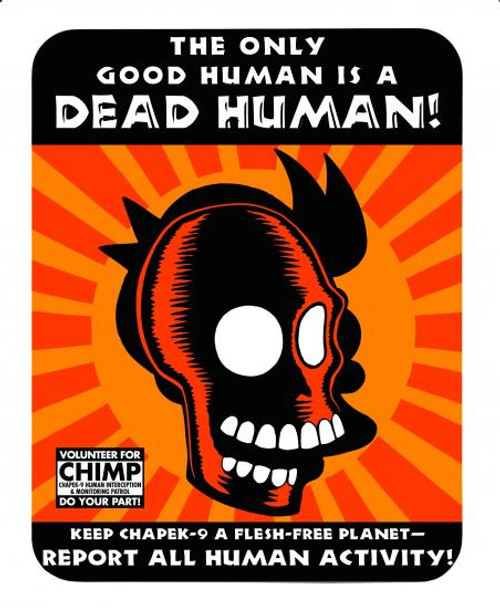 Futurama The Only Good Human Is A Dead Human Tin Sign
