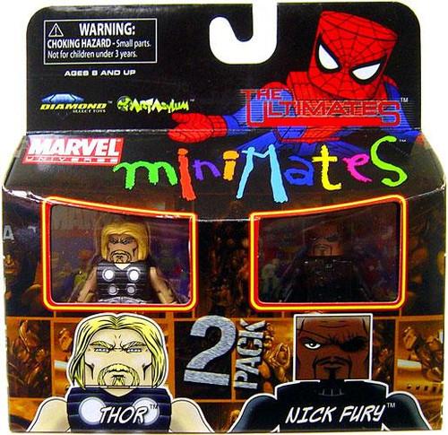 Marvel Universe Minimates Series 27 Ultimate Thor & Nick Fury Minifigure 2-Pack