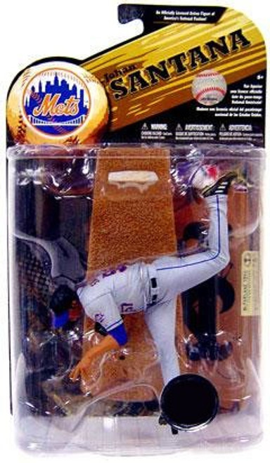 McFarlane Toys MLB Sports Picks Series 24 Exclusive Johan Santana (New York Mets) Exclusive Action Figure [Gray Jersey]